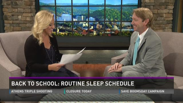 Back to School: routine sleep schedule