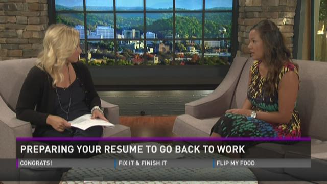 Preparing your resume to go back to work