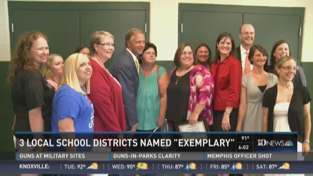 "Three area school districts reach ""Exemplary"" status"