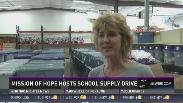 And Finally: Mission of Hope hosts school supply drive