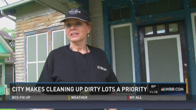 City makes cleaning up dirty lots a priority