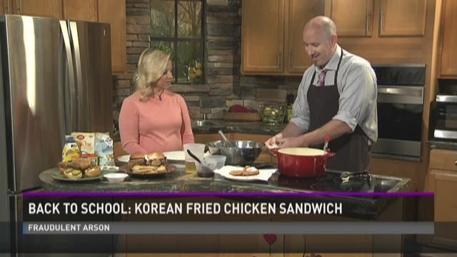 Back To School: Korean Fried Chicken Sandwich