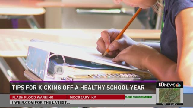 Tips for kicking off a healthy school year
