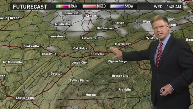 After a string of sunny days, rain is set to return to East Tennessee on Wednesday.