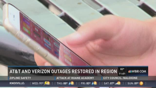AT&T and Verizon services restored