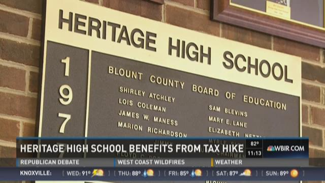 Heritage High School benefits from Tax Hike