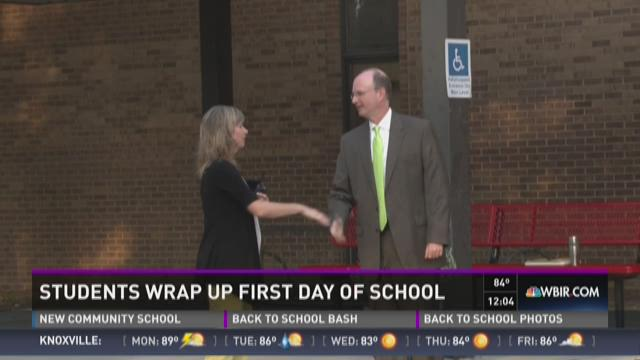 First day of school for many East Tennessee students