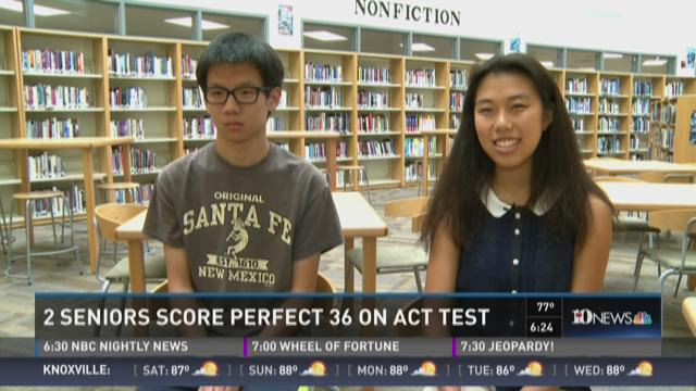 And Finally: Two seniors score perfect 36 on ACT test