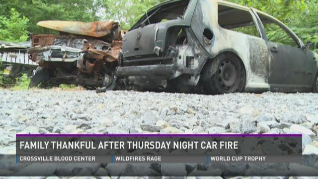 Brother saves brother after car fire