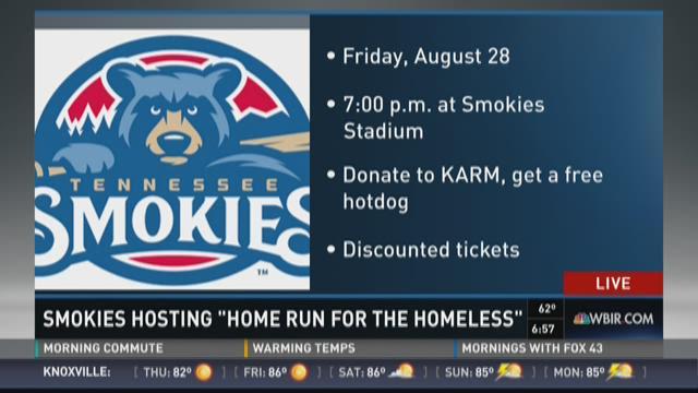 "Smokies hosting ""Home Run for the Homeless"""