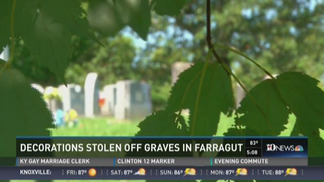 Decorations stolen off graves in Farragut cemetery