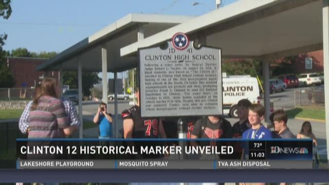 Clinton 12 historical marker unveiled
