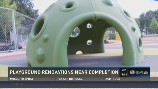 Playground renovations near completion