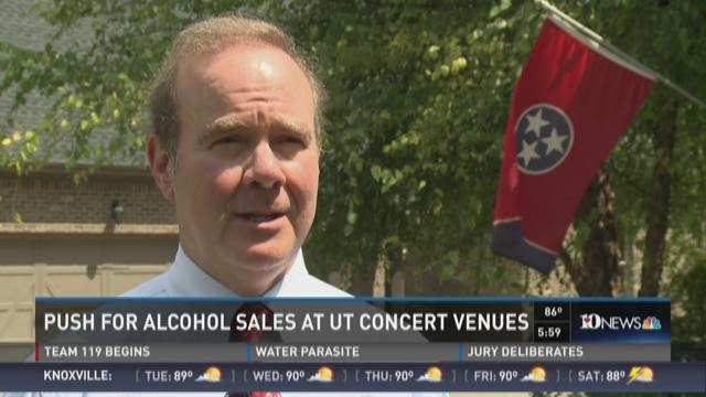 Lawmaker in favor of on-campus alcohol sales for concerts