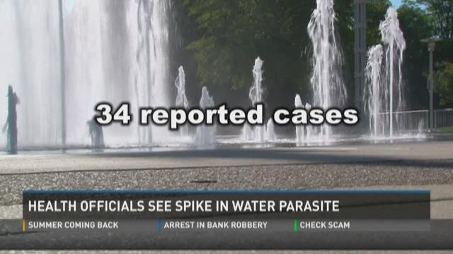Health officials see spike in water parasite