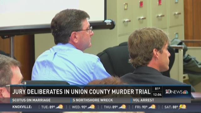 Jury deliberates in Union County murder trial
