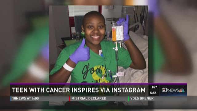 Teen with cancer inspires via Instagram
