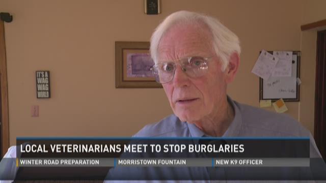 Local veterinarians meet to stop burglaries