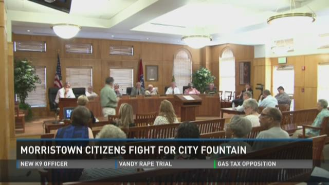 Morristown citizens fight for city fountain