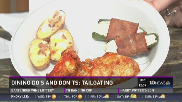 Dining do's and don'ts: Tailgating
