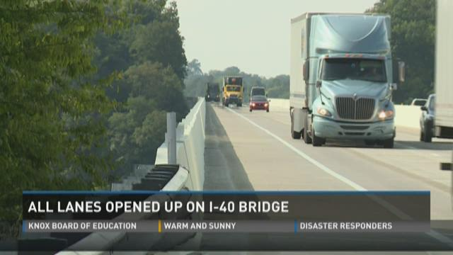 At last, all lanes open on I-40 Jefferson Cty bridge
