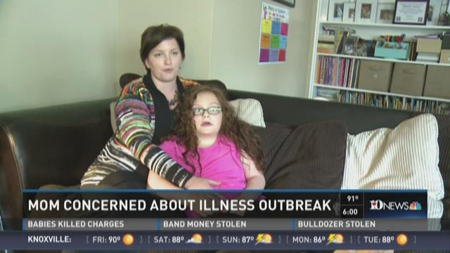 Mom concerned about crytosporidium outbreak