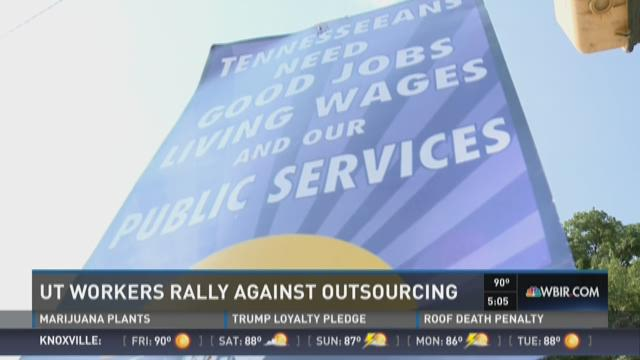 UT staff protest possible privatization of state jobs