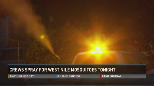 Crews spray for mosquitoes carrying West Nile