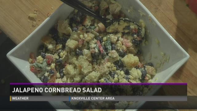 The Knoxville Convention Center makes a jalapeno cornbread salad.