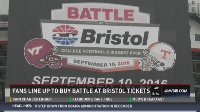 Fans Line Up For Battle At Bristol Tickets
