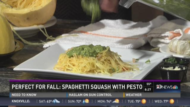 Spaghetti Squash with Pesto
