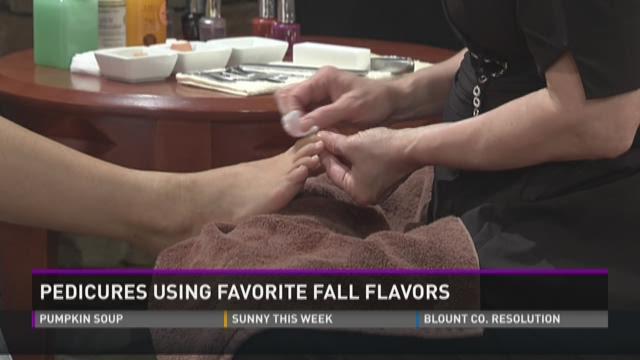 Pedicures Using Favorite Fall Flavors