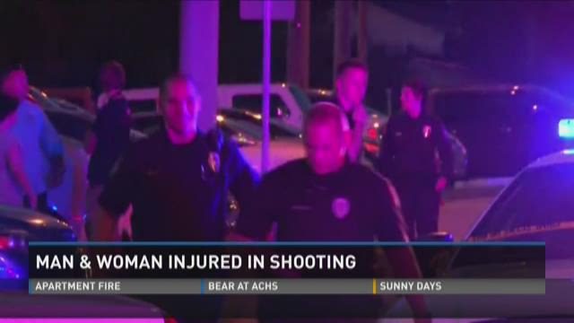 Man and woman injured in shooting
