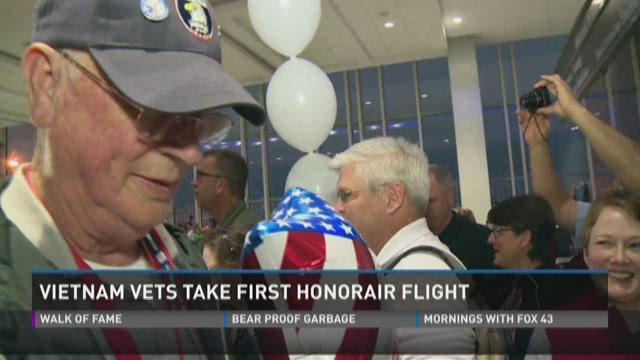 Vietnam vets take first HonorAir flight
