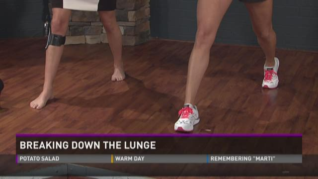 Breaking down the lunge