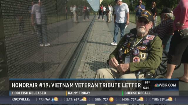 Vietnam veteran reads tribute letter to fallen friend