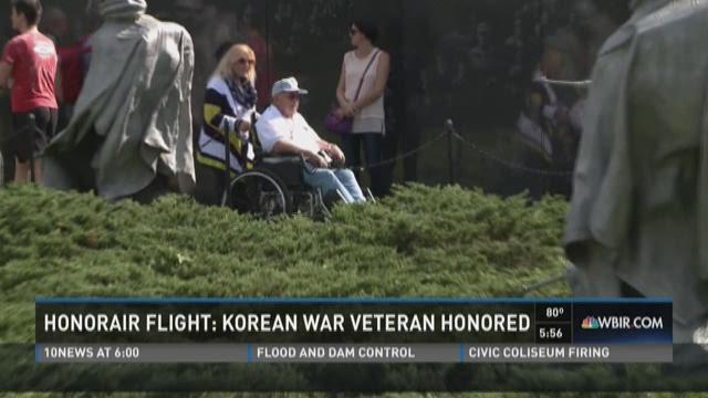 Korean War veteran gets extra honor on HonorAir flight