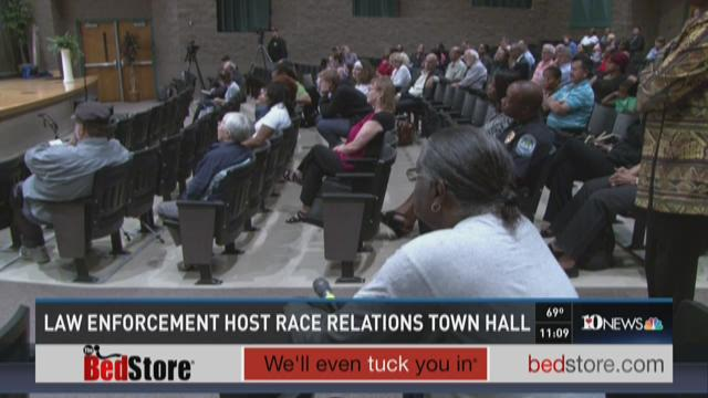 Law enforcement host race relations town hall