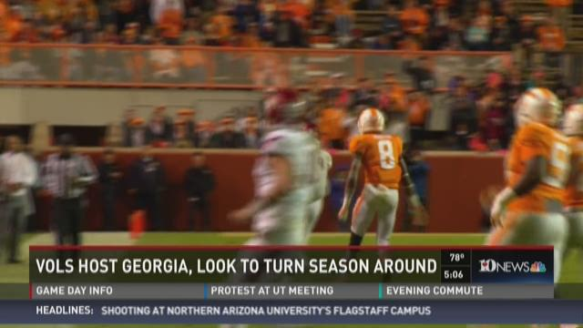 Vols hope to turn season around against Georgia