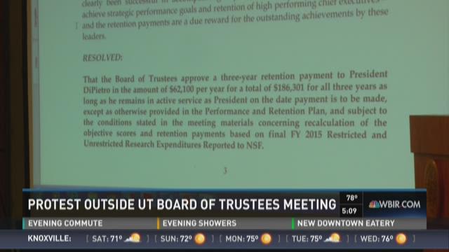 UT Board of Trustees: Pay raises and protestors