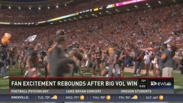 Fan excitement rebounds after big Vol win