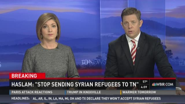 """Gov. Bill Haslam said Monday he was asking the federal government to suspend placements of Syrian refugees into Tennessee until U.S. states """"can become more of a partner in the vetting process."""""""