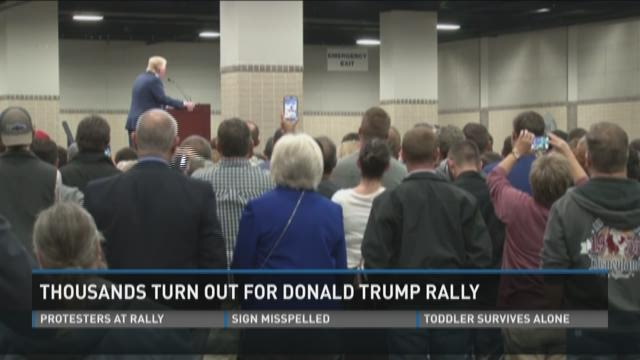 ... Donald Trump's rally on Monday night at the Knoxville Convention