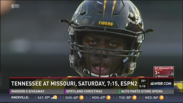 Tennessee at Missouri, Saturday, 7:15, ESPN2