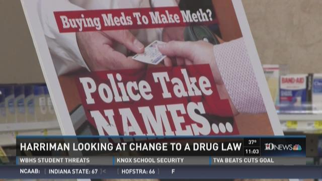 Harriman looking at change to a drug law