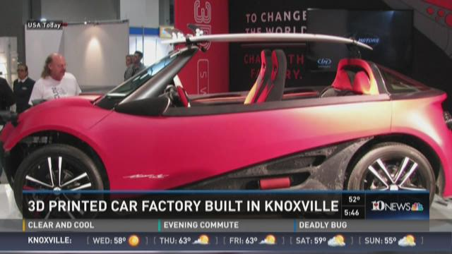 Local motors opening 3d printed car factory in knoxville for Clayton motor co west knoxville tn