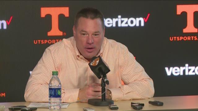 Butch Jones news conference Wednesday