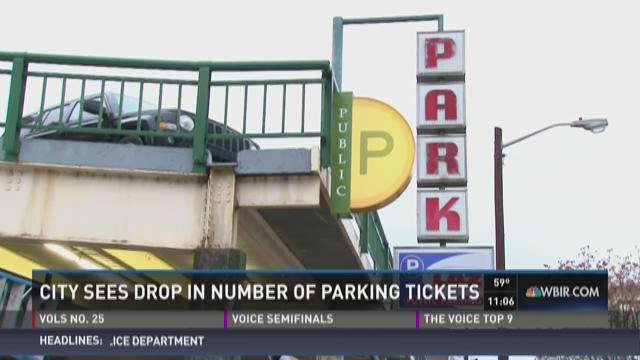 Number of Knoxville, UT parking tickets drop dramatically
